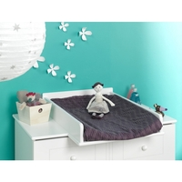 Oslo Dresser Baby Change Table Top in Satin White