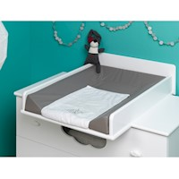 Altea Dresser Baby Change Table Top in Satin White