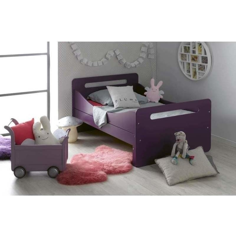 Feroe Extendable Toddler Bed Frame Purple 140 190cm