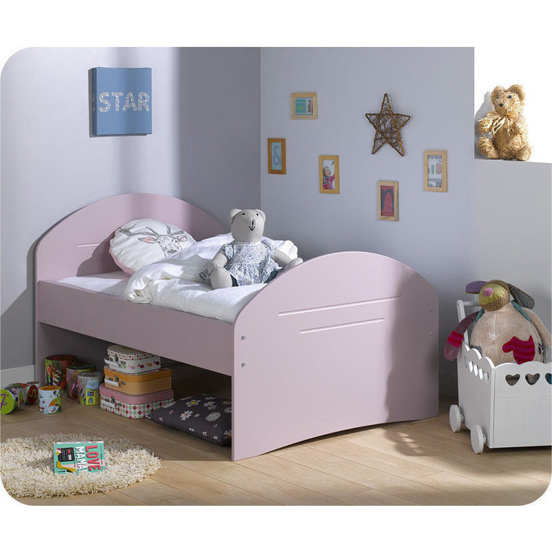 Spoom Extendable Toddler Bed Frame Pink 140 190cm