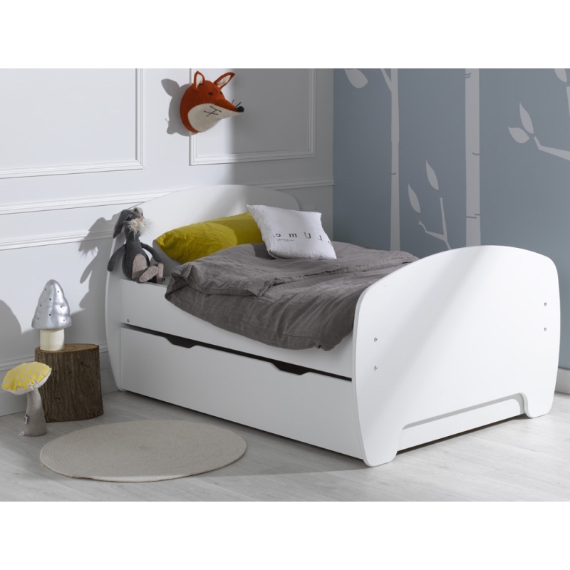 Youpi Extendable Toddler Bed Frame White 140 190cm H M S Remaining