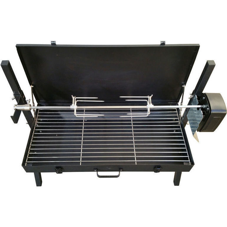 mini grill electric spit roaster charcoal bbq black buy. Black Bedroom Furniture Sets. Home Design Ideas
