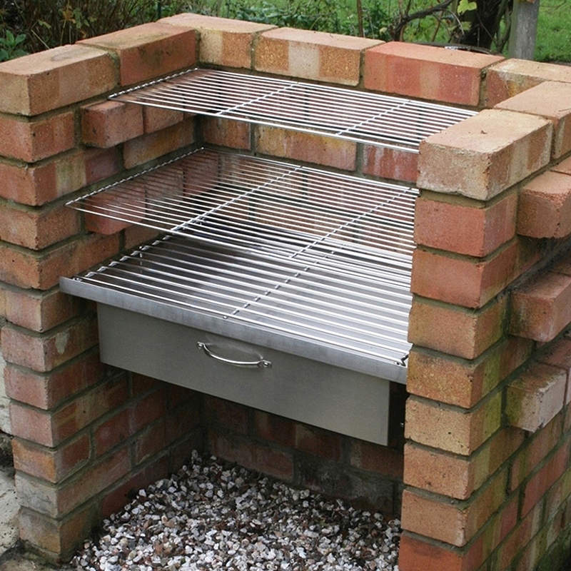 Diy Brick Charcoal Bbq Kit W Grills Grate Amp Drawer Buy Barbecue Accessories