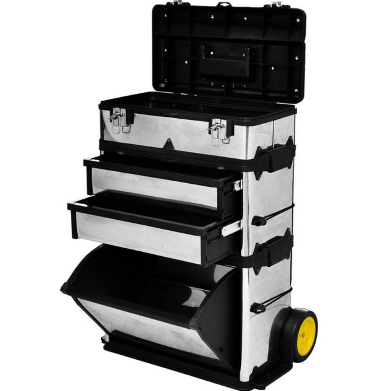 3 Piece Stackable Steel Tool Box Cabinet Trolley Buy