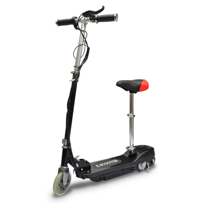 Kids Collapsible Electric Scooter W Seat Black 120w Buy
