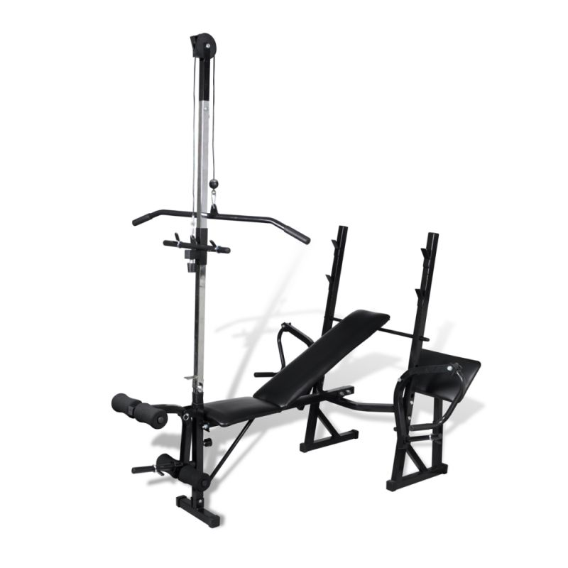 Adjustable Exercise Bench W Pull Down Leg Curl Buy Exercise Benches