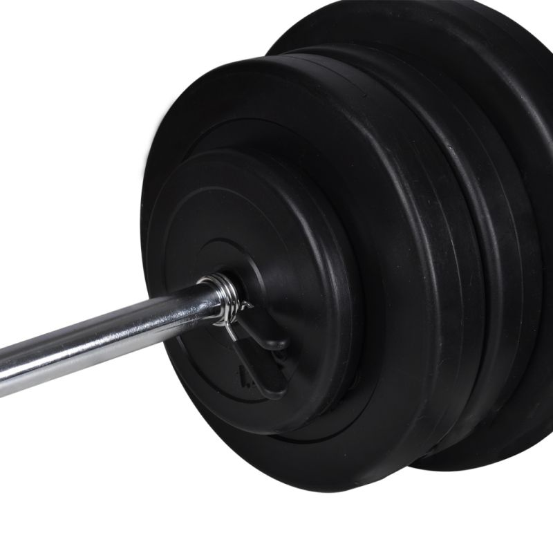 Exercise Barbell Dumbbell: Exercise Barbell Dumbbell & Weights Set W 16 Discs
