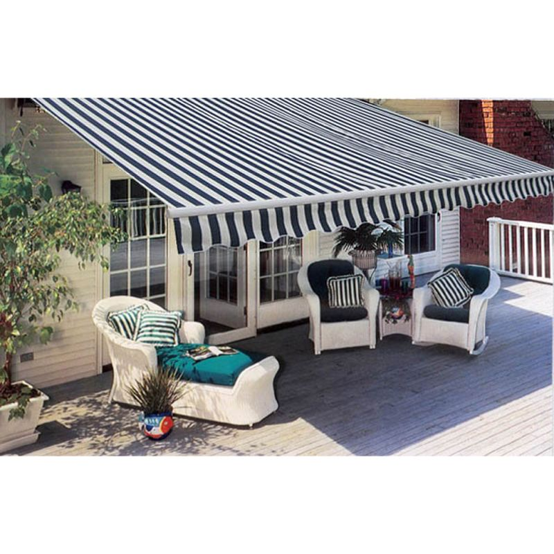 Folding Window Awning In Navy And White 300x250cm Buy