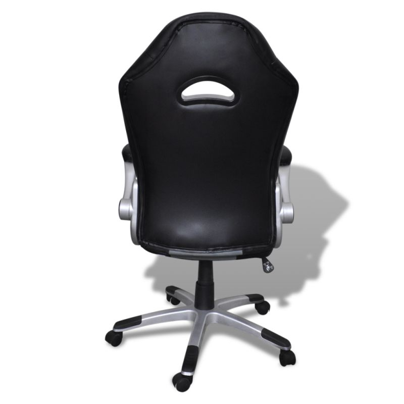 modern faux leather office chair in black and grey buy