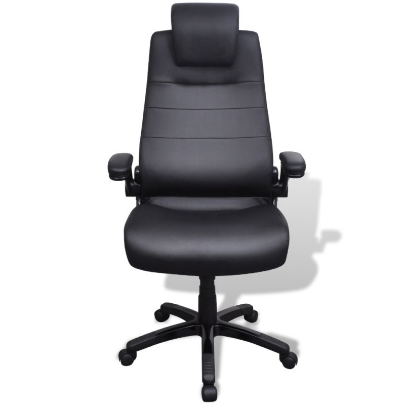 swivel office chair in black pvc leather buy ergonomic office chairs