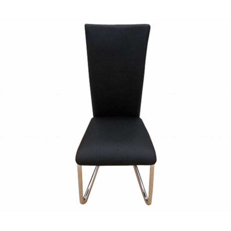 4x Faux Leather Dining Chairs w Chrome Legs Black Buy  : 24002103 from www.mydeal.com.au size 800 x 800 jpeg 14kB