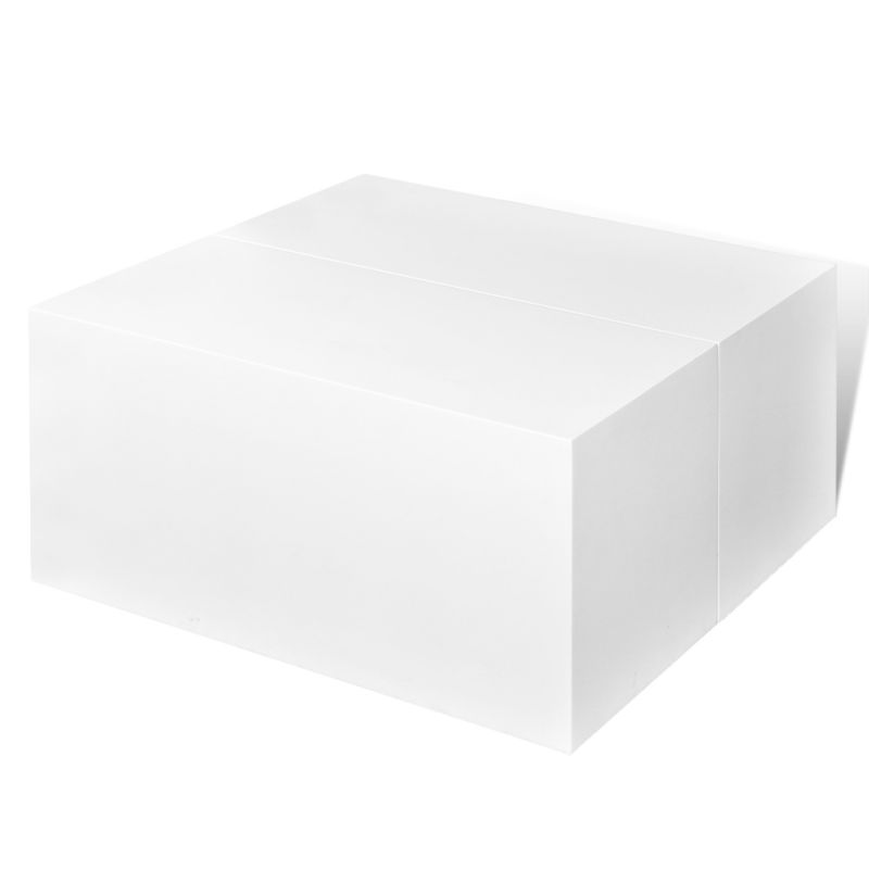 Elisa Coffee Table Square In High Gloss White With Storage: High Gloss White Coffee Table W Storage Compartment