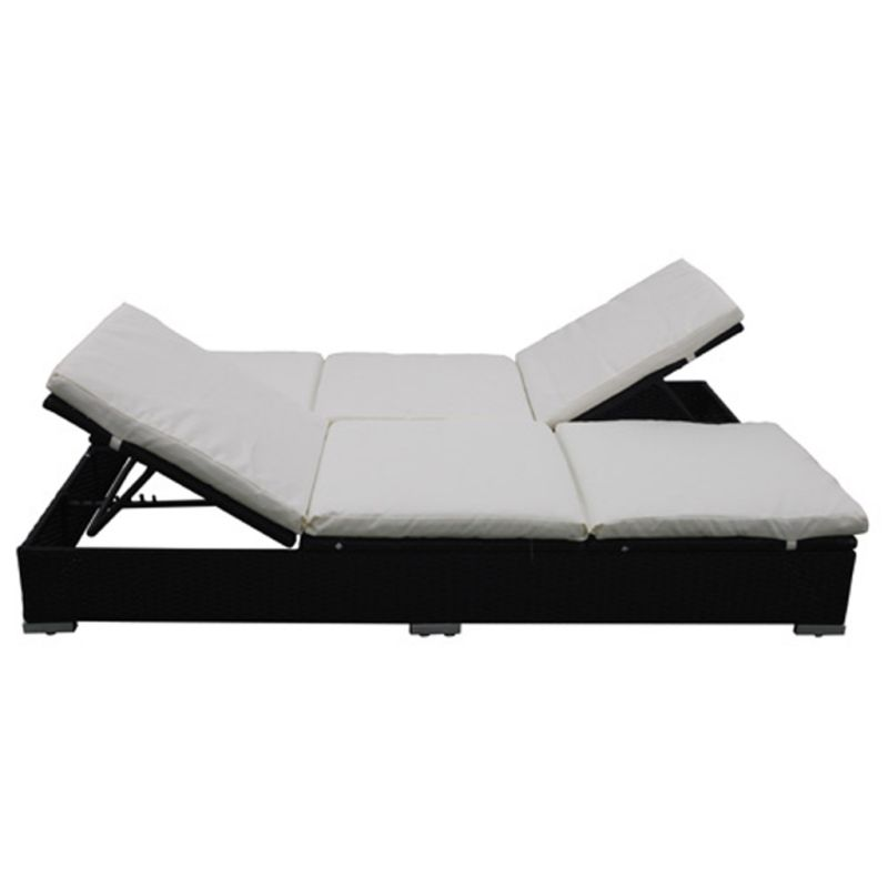 Double Outdoor Sun Lounge Day Bed In Black Rattan Buy