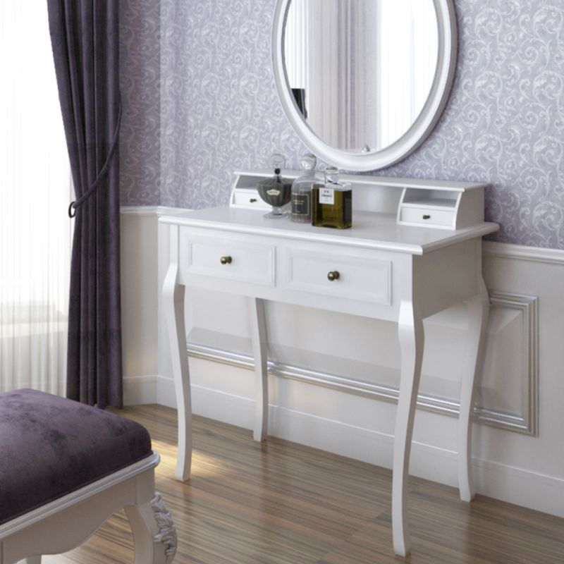 Modern Beauty Vanity Makeup Table w 4 Drawers White | Buy ...