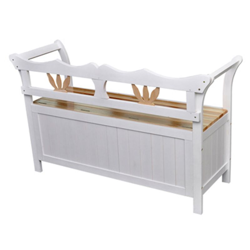 wooden storage entry way bench white natural tone buy entryway benches. Black Bedroom Furniture Sets. Home Design Ideas