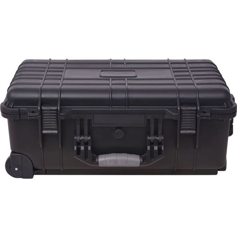 tool box storage case with wheels handle in black buy tool boxes. Black Bedroom Furniture Sets. Home Design Ideas