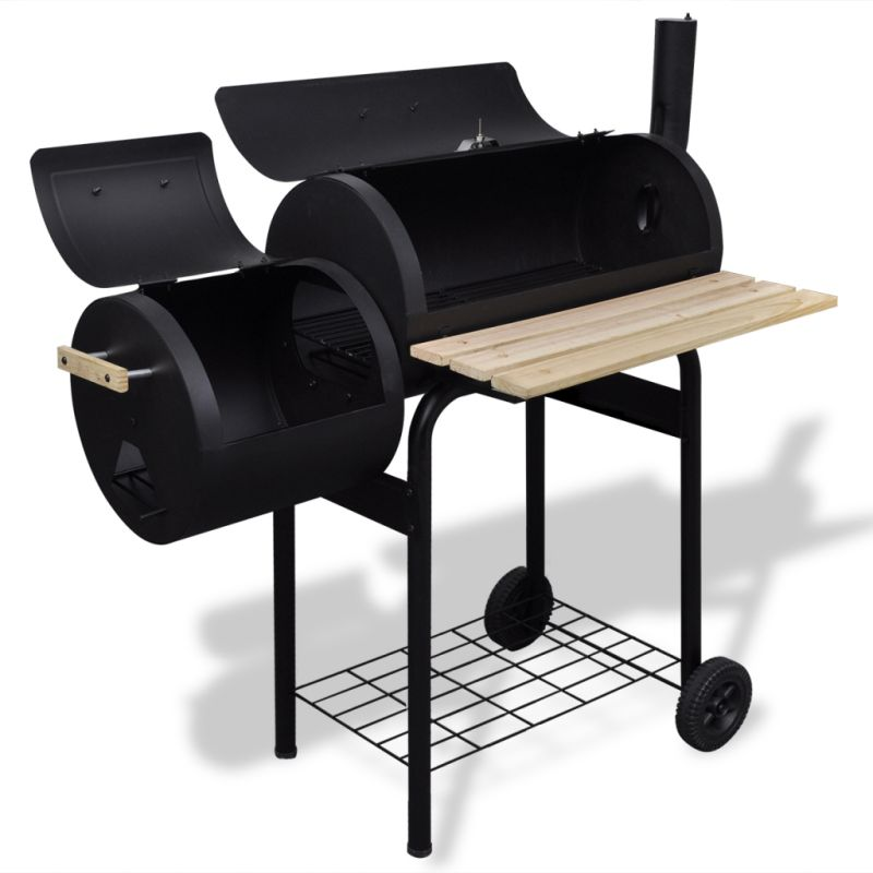 classic charcoal bbq offset smoker with thermometer buy smokers. Black Bedroom Furniture Sets. Home Design Ideas