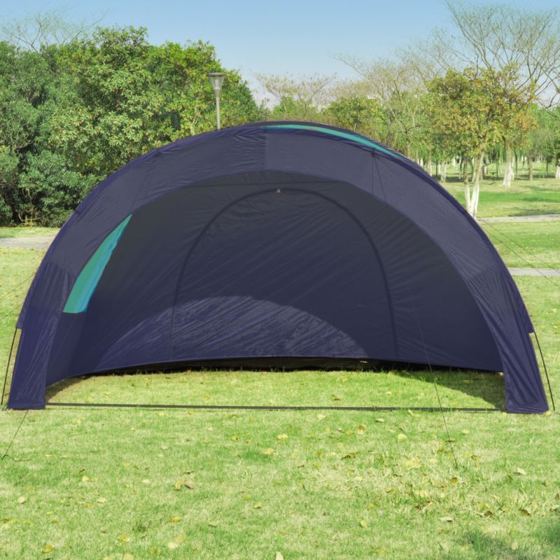 6 Person Dome Camping Tent with 4 Windows in Blue   Buy Tents