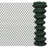 Green Chain Wire Mesh Fence w/ PVC Coating 1.25x25m