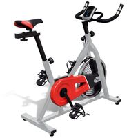 Fitness Stationary Exercise Bike w/ Pulse Sensors