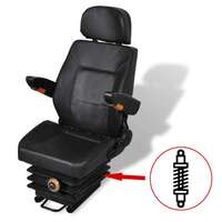 Suspension Tractor Seat w/ Arm Rests & Head Spring
