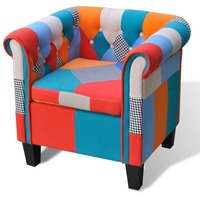 Chesterfield Multicolour Fabric Armchair Patchwork