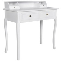 Modern Beauty Vanity Makeup Table w 4 Drawers White