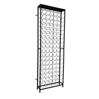 108 Bottle Wrought Iron Wine Rack Cabinet in Black
