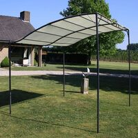 Outdoor Polyester & Steel Portable Angled Gazebo