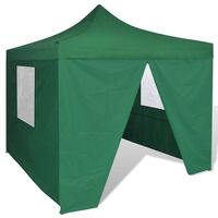 Green Foldable Gazebo Party Tent with 4 Walls 3x3m