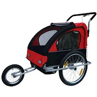 2 in 1 Kids Bike Trailer Jogger Stroller in Red