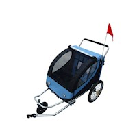 2-in-1 Kids Bike Trailer & Jogger Stroller in Blue