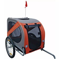 Rex Pet Dog Bike Trailer in Orange with Reflectors
