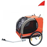 Lassie Pet Dog Bike Trailer w/ Reflectors in Orange