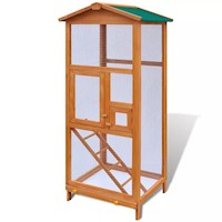 Large Outdoor Bird Cage in Solid Pine with 2 Doors