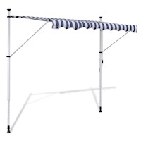 Manually Operated Retractable Window Awning 350cm