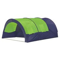 6 Person Dome Camping Tent with 4 Windows in Green