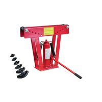 Hydraulic Tube Rod Pipe Bender with 6 Dies - 12 Ton