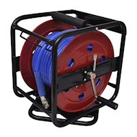 Retractable Air Hose Reel w/ Side Crank Handle 30m