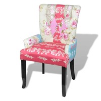 Fabric Upholstered Occasional Armchair in Patchwork