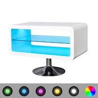 Modern LED Lit TV Stand w/ Remote in White 80cm