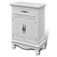 Wooden Sideboard Cabinet w 2 Doors & 1 Drawer White