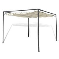Portable Gazebo w/ Retractable Roof Canopy 3x3m