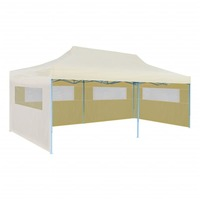 Pop-Up Party Tent Portable Gazebo in Cream 3x6m