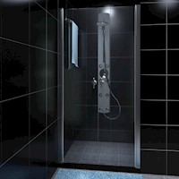 Double Swing Glass Shower Enclosure Door 100cm