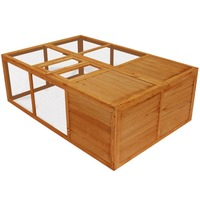 Compact Foldable Wooden Rabbit Guinea Pig Hutch