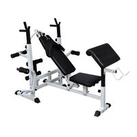 Home Gym Equipment Steel Weight Bench in Black