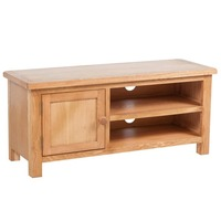 Oak Wood TV Cabinet Entertainment Unit with 1 Door
