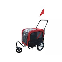 Pet Dog Bicycle Bike Trailer & Jogger Pram in Red