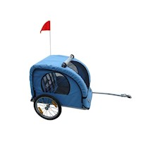 Kids Water Resistant Bicycle Bike Trailer in Blue